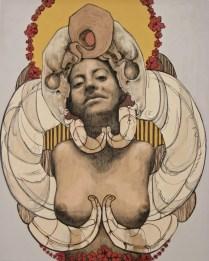 CAPICUA. carboncillo y acrilico sobre tela, 150cm x 120cm, 2011
