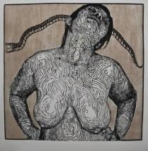 ESCAPULARIO, Xilografia, 70cm x 70cm, 2011