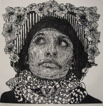 LA HOJARASCA, Xilografia, 120cm x 120cm, 2014