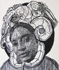 señora matanza X- xilografia-120cm x100cm-2013 copy
