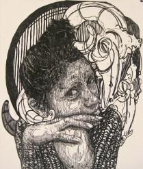 SEÑORA MATANZA XII, Xilografia, 120cm x 100cm , 2013