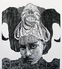 señovra matanzaI-xilografia-120cm x 100cm-2012