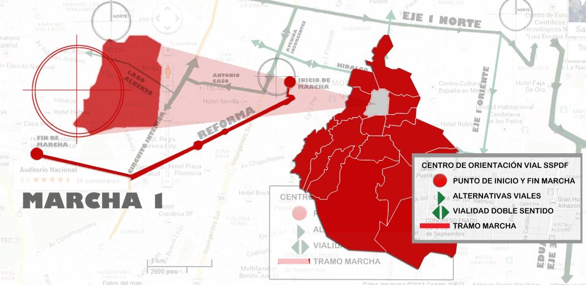 #Marchas y movilizaciones para hoy martes 18 de septiembre en la CDMX