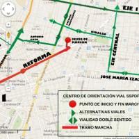 Marchas para hoy lunes 27 de enero en la CDMX