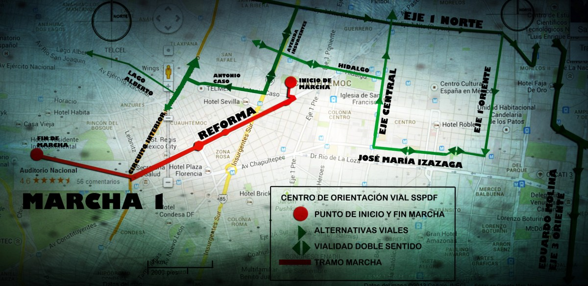 Marchas y concentraciones para hoy miércoles 24 de abril en la CDMX