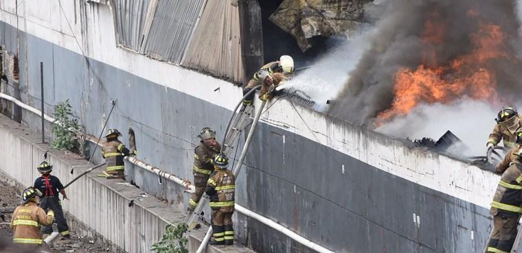 incendio en Iztacalco