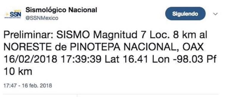 sismo cdmx 16 febrero 2018