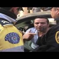 Conductor trata de escapar de policías con todo y araña #video