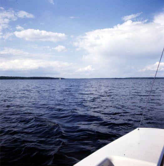 bolmensee-ein einziges boot auf dem See