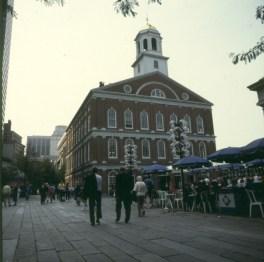Historische Reste im modernen Boston 1988