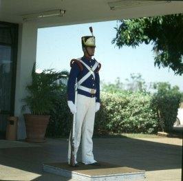 brasilia-präsidentenpalast - wachsoldat