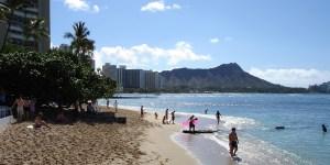 hawaii-Waikiki - leerer Strand 013