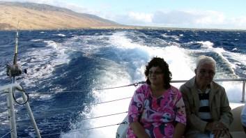 hawaii-bootsaufahrt zum tauchen und schnorcheln