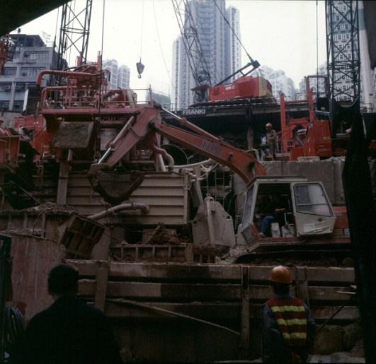 Hongkong-Victoria Süd- Baustelle 1997