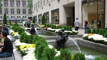 new-york-Innenhofdekoration im Rockefellercenter 2003