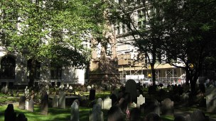 new-york-Trinityfriedhof in Downtown 2003