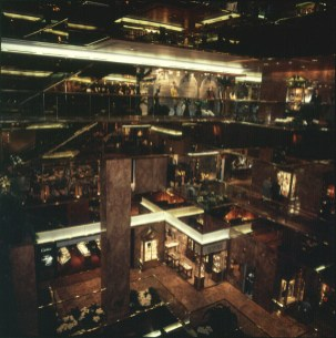 new-york-Trumptower gefüllte Shops in shop 1988