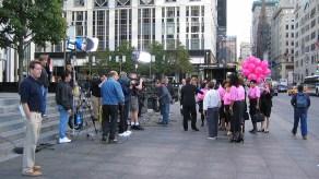 new-york-TV Aufnahmen vor Plaza Hotel 2003