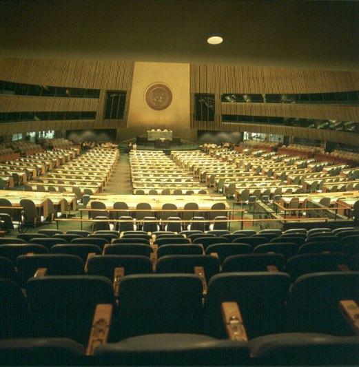 new-york-Saal UNO-Vollversammlung 1983
