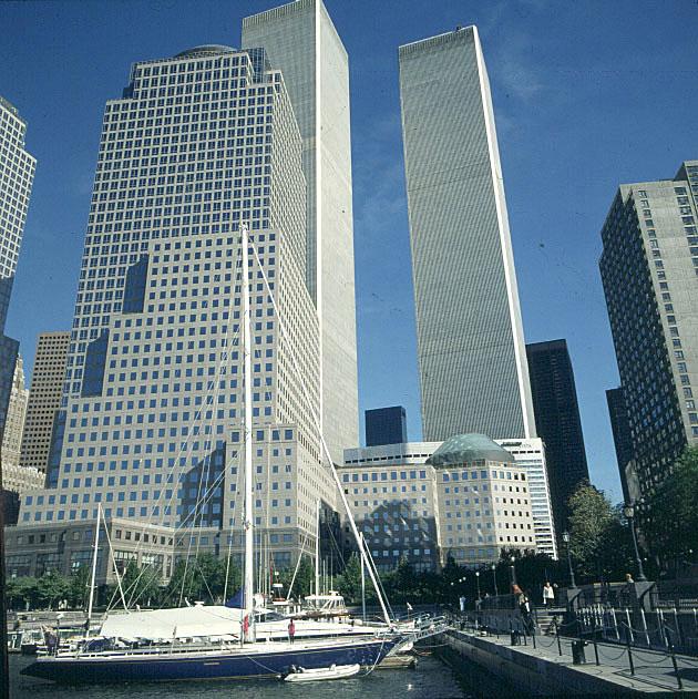 Newyork- North Cove Yachthafen-WTC-Türme 1994