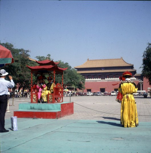 Peking-kaiserpalast-Foto als Kaiser 2000