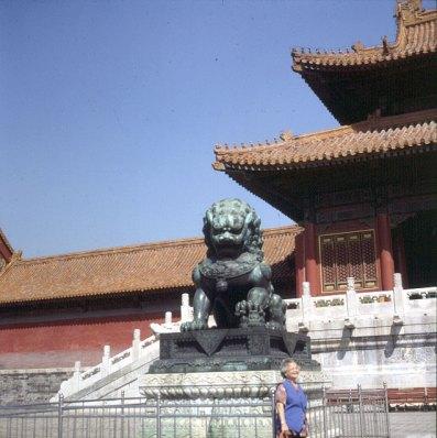 Peking-Kaiserpalast-alter Löwe 2000