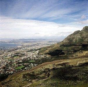 Suedafrika-Kapstadt - Blick aus Selbahn 1987