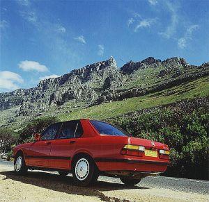 Suedafrika-Fahrt zum Tafelberg 1987
