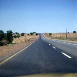 Südafrika-Strasse zum Gemsbock N.P. 1987