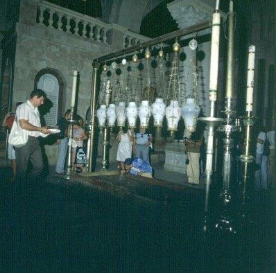 Jerusalem-Grabeskirche-Salbungsstein