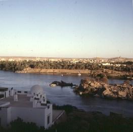 Assuan- Blick auf Stadt