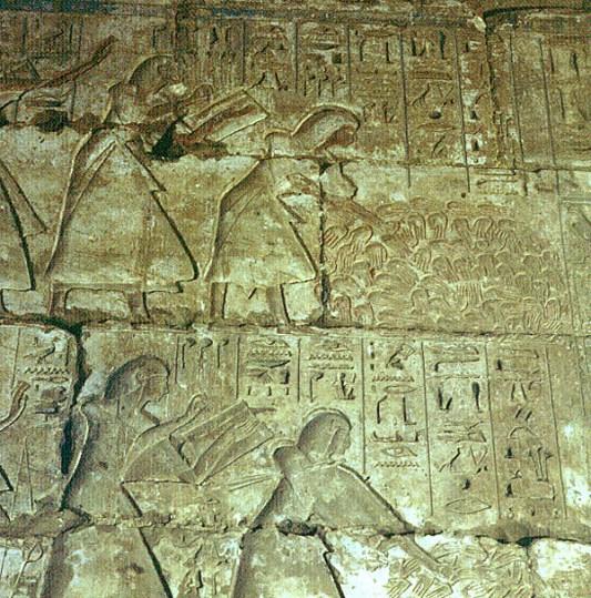 Totentempel-Medinet Habu-abgehackte Hände