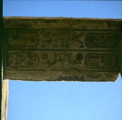 Karnak-Farbreste im großen Saal