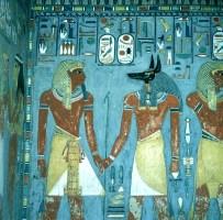 Tal der Könige Grab des Haremhab +Anubis