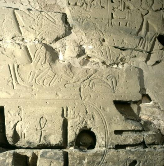 Totentempel-Medinet Habu abgehackte Penisse