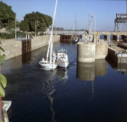 Nil-Schleuse bei Dendera