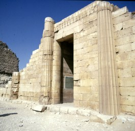 Gizeh-Sakkara-Djoser-kannelierte Säulen