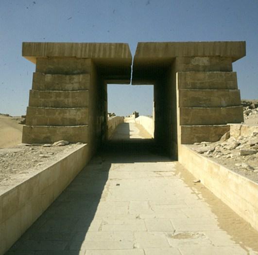 Gizeh-Aufgang Unaspyramide