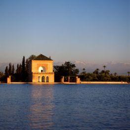 Marokko Park Sonnenuntergang 1995