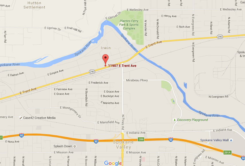 Location of Irv's Shop in Spokane