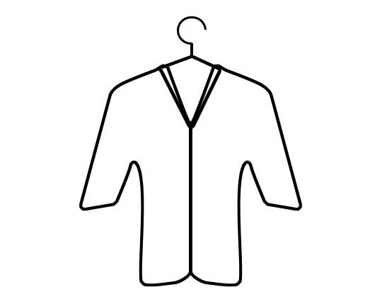 Simbolo giacca appesa