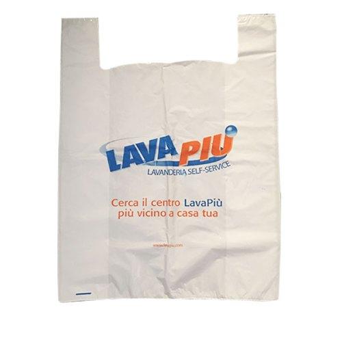 Shopper bianca con logo Lavapiù Classic