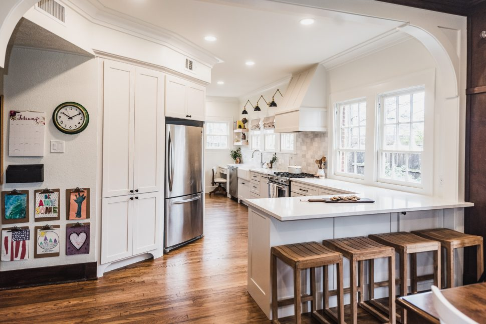 Family Style Galley Kitchen