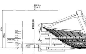 新国立競技場 側面寸法