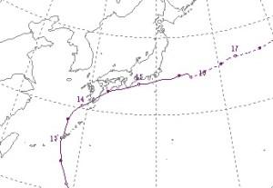 2007年台風4号進路