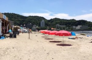 2014年7月の逗子海水浴場
