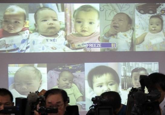 重田光時氏タイ代理出産 子供の写真