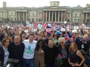 トラファルガー広場 スコットランド独立反対集会