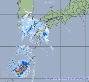 気象庁・高解像度降水ナウキャスト 台風15号