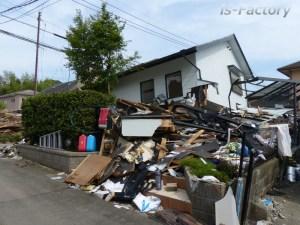 熊本地震本震後・益城町